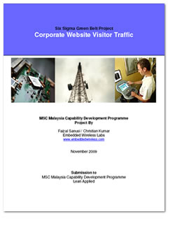 """Increasing Corporate Website Traffic"" Six SIgma project by EWL project managers"